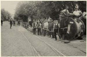 Kabelverlegung Rüdigerstraße 1912